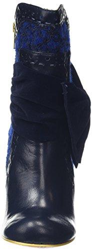 Irregular Choice Rosie Lea, Bottes femme Bleu - Bleu (Bleu marine)