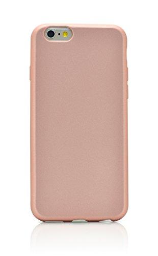 "iProtect Silikon Schutzhülle Apple iPhone 6 Plus (5,5"") Soft case gummiert in Schwarz IP6 Plus Soft Case Rosegold"
