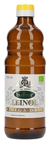 Balbur-Leinöl (Bio) aus dem Spreewald, kaltgepresst (500 ml)
