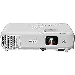 Epson EB-S05 SVGA Vidéoprojecteur, Technologie 3LCD, 3,200 Lumen, Blanc