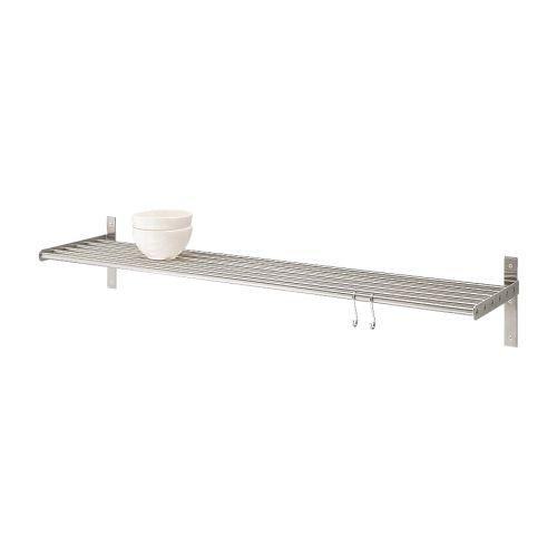 IKEA 6er-Wandregal GRUNDTAL 80cm, Edelstahl