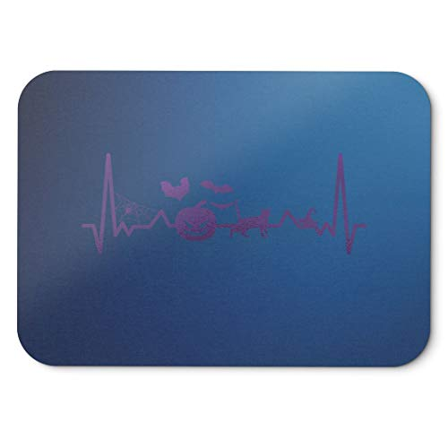 BLAK TEE Halloween Heartbeat Line Mouse Pad 18 x 22 cm in 3 Colours Blue