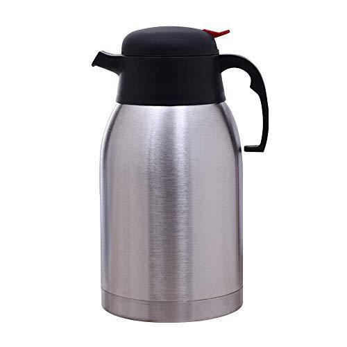 2L Thermo Kaffee Karaffe Edelstahl Doppelwandig Vakuum Thermoskanne, Vakuum Flasche Saft/Milch/Tee Isolierung Topf, Getränkespender - Wie Abgebildet Show, 2l -