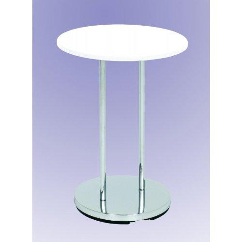 HAKU Möbel 33360 Beistelltisch 55 x 40 cm, chrom / weiß