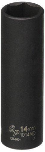 0.375 Drive Deep Socket (Grey Pneumatic (1014MD) 3/8 Drive x 14mm Deep Socket by Grey Pneumatic)