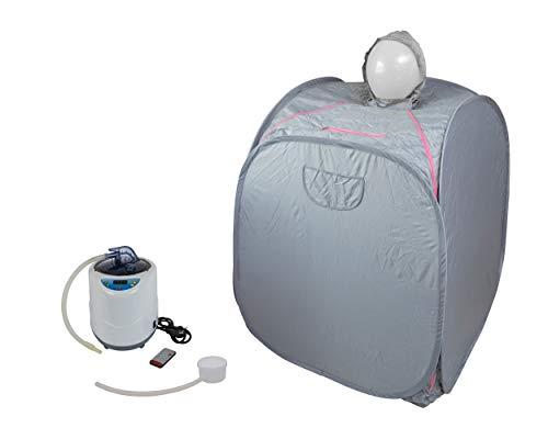 Minisauna mit Kopfhaube, Faltsauna, Svedana, Dampfsauna mit Dampferzeuger 2,0 Liter 1000 Watt