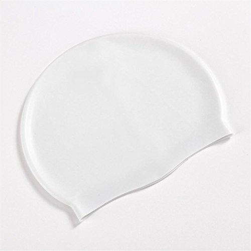 Pondkoo cuffia da nuoto impermeabile in silicone anti strappo durevole  ergonomico di orecchie piscina cappello per 7cb75d481d14