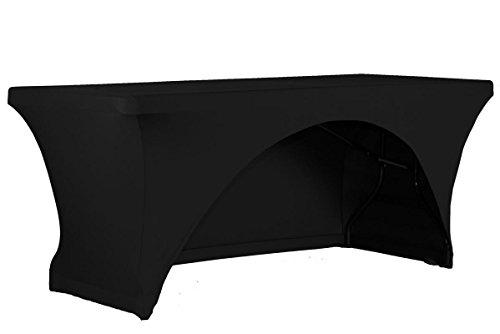 Expand Tischcover, Tischhusse Schwarz - Tisch Cover, Husse als Tischdecke - 110cm bis 130cm - Einseitig offen - B1 - Stretch