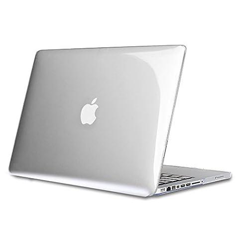 """Fintie MacBook Pro 13 (Non-Retina) Étui Housse - Haute Qualité Plastique Transparent Dur étui Housse pour Apple MacBook Pro 13.3"""" WITH CD-ROM Drive (A1278), Transparent Clair"""