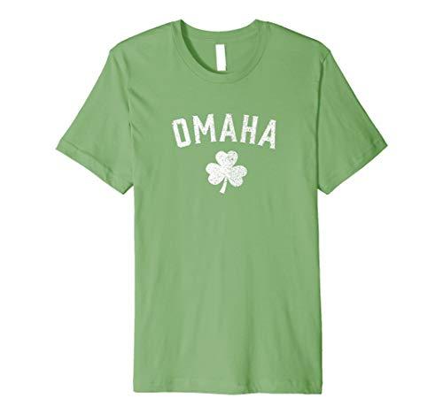 Omaha Nebraska, Saint Patrick 's Day Shirt–Shamrock Tee, -