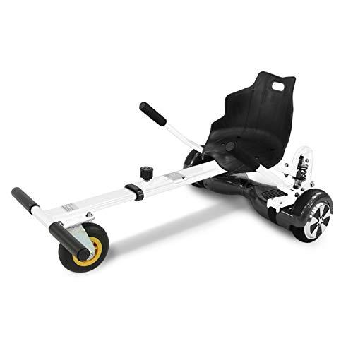 "Hoverkart mit LED-Beleuchtung für Balance Scooter E-Scooter Hoverseat mit Federung GoKart Sitz (6,5\"" / 8,0\"" / 10\"") verstellbar"