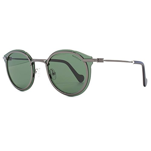MONCLER Unisex Adults' ML0018 08N 58 Sunglasses, Grey (Antracite Luc/Verde)