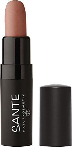 SANTE Naturkosmetik Lipstick Mat Matt Matte Lippenstift, 01 Dusty Beige, Matt-Effekt, Intensive Farbpigmentierung, 4,5g -