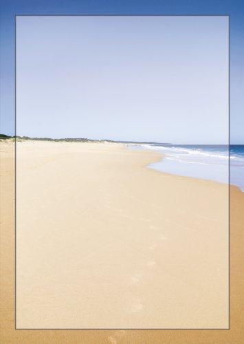 Australien Sand (Briefpapier Sandstrand DIN A4 90 g/m² Küste Meer Motivpapier Spuren im Sand (50 Blatt))