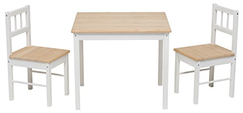 Impag Kindersitzgruppe aus europäischem Buche-Hartholz 1 x Tisch, 2 x Stühle