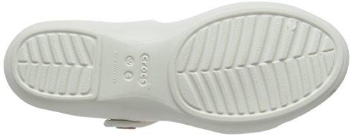 Crocs Cleovsandalw, Sandales Bout Ouvert Femme Blanc (Oyster/Gold)