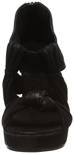 Black Lily NEHLO WEDGE SANDAL Damen Offene Sandalen Schwarz (Black)