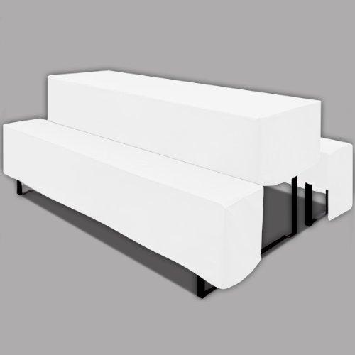 Husse Bierzeltgarnitur 220 cm weiß 3er Set