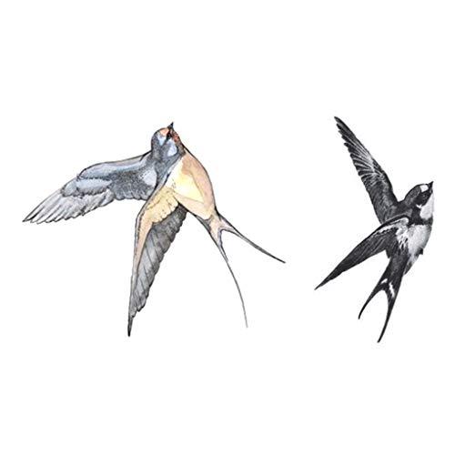Tatuaje temporal de ave