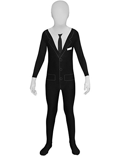 Slenderman Smoking Kostüm Kind Morphsuits (Slenderman Kostüm)