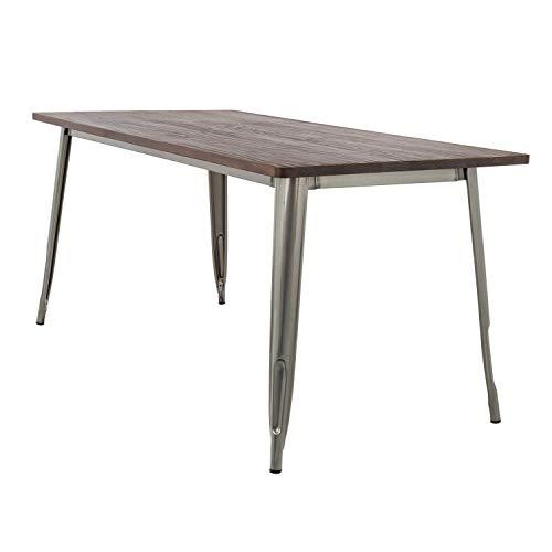 SKLUM Tisch LIX gebürstet Holz (120x60)