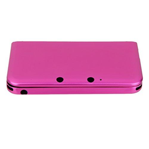 De Aluminio Cubierta De La Caja De La Piel Dura Protectora Para Nintendo 3DS LL XL -rose Roja