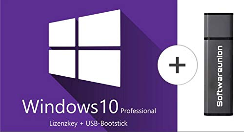 Microsoft Windows 10 Professional mit USB-Stick bootfaehig online 32 64 Bit (7 Win Pro-software)