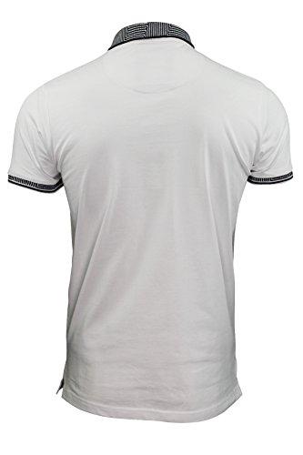 Herren Poloshirt von Brave Soul `Glover`kurzärmlig Optic Weiß