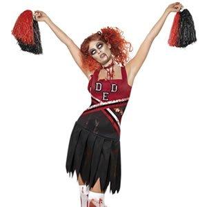 Generique - Zombie-Cheerleaderin-Kostüm für Damen