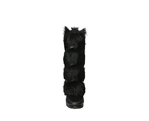 Bottes doublées de fourrure Saint Laurent en chevreau noir - Code modèle: 404652 AYA10 1000 Noir