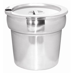 Bain Marie Pot & Lid Stainless steel. Capacity: 7 litre.