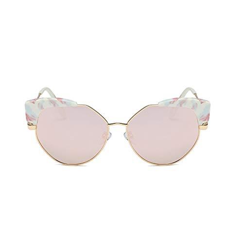 Brille Weibliche Sonnenbrille Rundes Gesicht Stern Modelle Persönlichkeit Polygonal Big Box Sonnenbrille Polarisiertes Licht Netz Rote Sonnenbrille (Farbe: C)