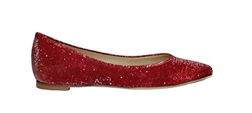L'Arianna ballerine donna, tomaia in tessuto glitterato.Colore: corallo, Fodera: pelle, Suola: cuoio. Tacco 2,5 cm BL1011 SIRIO CORALLO