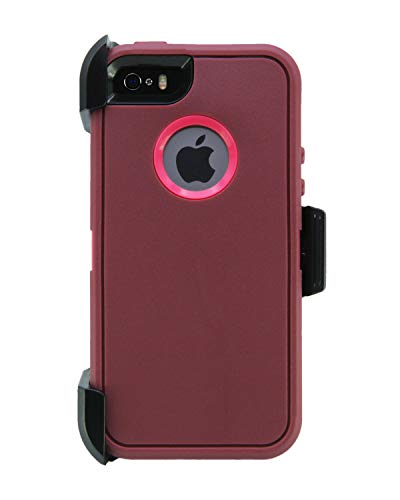 Handyhülle [M01] - iPhone 5/5S/5SE, Raspberry/Lava (Lifeproof 5 Clip Case Iphone)