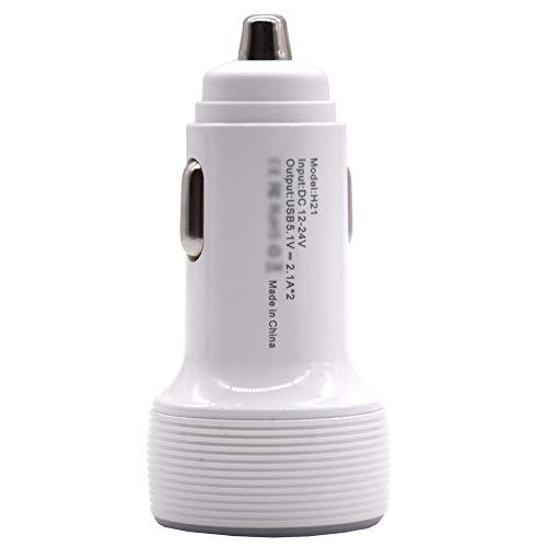 Uzinb Dual USB 5V 3.1A Display caricabatteria da Auto in Lega di Alluminio Multi-Funzione di Halo visualizzatore Digitale Caricatore da Auto