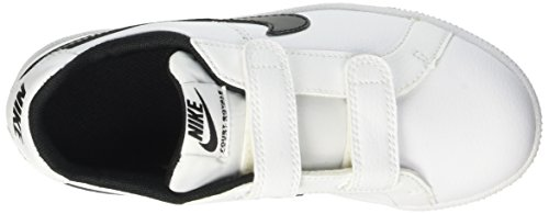 Nike Court Royale Psv, Chaussures de Tennis Garçon Multicolore - Multicolore (Bianco/Nero)