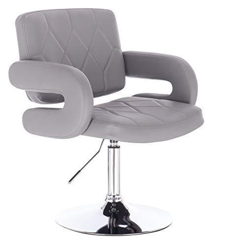 1stuff Designer Drehstuhl Dallas - 50cm Sitzbreite - Loungesessel Clubsessel Drehsessel