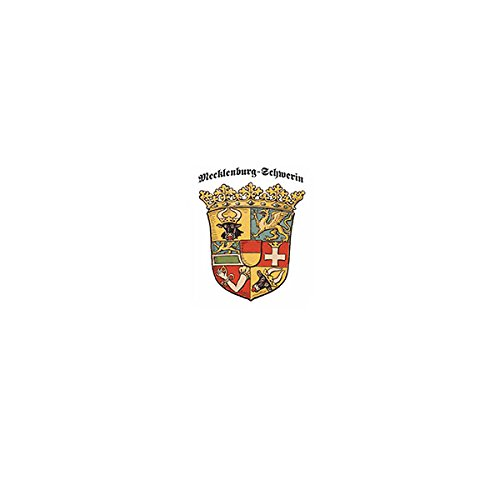 Copytec Aufkleber/Sticker -Freistaat Mecklenburg-Schwerin Weimarer Republik Herzogtum Herzöge zu Mecklenburg Schwerin Deutschland Wappen Abzeichen 6x7cm #A3177