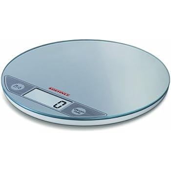soehnle 66161 bilancia da cucina digitale slim flip argento ... - Bilancia Da Cucina Elettronica