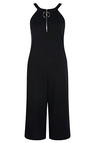 Noir Femmes Sally Combinaison Jupe-culotte À Détail Anneau Noir