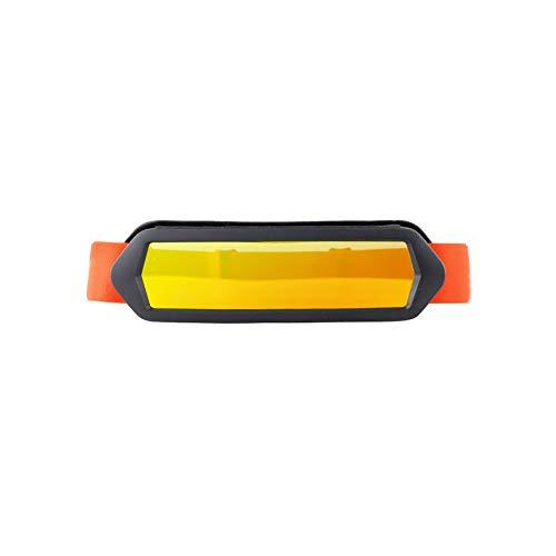 Sportbrillen Radsportbrille Anti-Fog Sport Brille Grau PC windundurchlässiger Motorrad-Sonnenbrille UV-Schutz Brillen 2Pcs orange