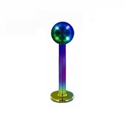 Color Titane–Piercing Labret (Tige pour u.a. vos lèvres, de tondeuse nez, conchpier cings) 1,2 mm 12 mm 4 mm bleu