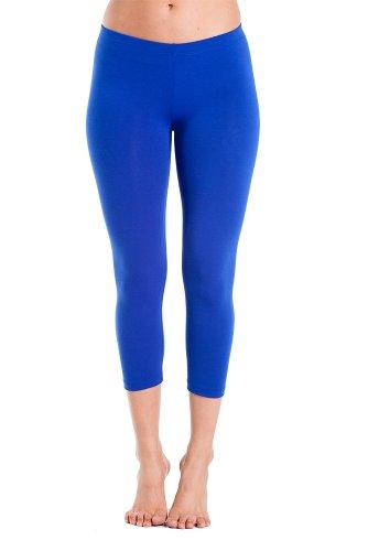 Royal Blue Womens Capris (In Touch Damen Capri-Leggings, modisch und fit - blau - X-Groß)