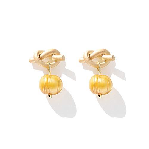 AILOVEIA Verknotete Süßwasserperlen Ohrringe Frauen Einfache Online Promi Ohrring Modeschmuck Ohrringe Zubehör