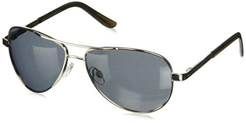 Vorhersage Optik Trapper Sonnenbrille, Damen Unisex Herren, Silber