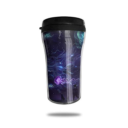 Bgejkos Beautiful Jellyfish 8.45oz Coffee Mugs Birthday Gifts Insulated Sport Bottle Leakproof 16 Oz Sip-top