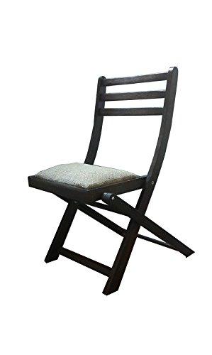 Chaise pliante de jardin en bois avec avec siège rembourré
