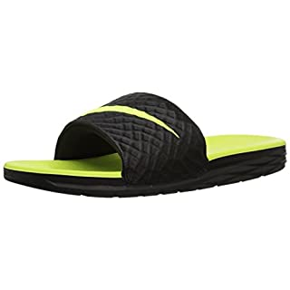 Nike Men's Benassi Solarsoft Beach & Pool Shoes, (Black/Volt 070), 8 UK