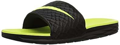 Nike Herren Benassi Solarsoft 2 Badeschuhe, Schwarz (Black/Volt 070), 42.5 EU