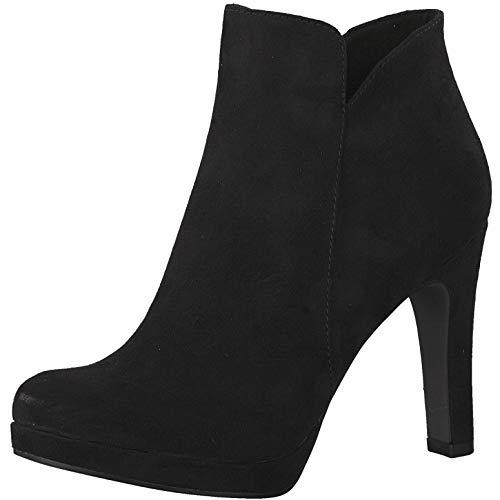 Tamaris 1-1-25316-22 Damen AnkleBoot,Stiefel,Halbstiefel,Bootie,hoher Absatz,sexy,feminin,Touch-IT,Black,39 EU
